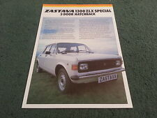 1981 1982 ZASTAVA Yugo 1300 ZLX SPECIAL 5 DOOR - UK COLOUR LEAFLET BROCHURE