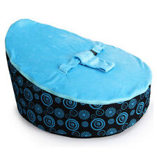 Blue Deluxe lovely Baby Toddler Bean Bag Kids Seat Pod without beans