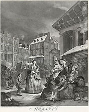 Hogarth Print Reproduction: 'Morning' - Four Times of the Day: Fine Art Print