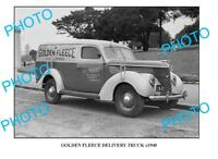 OLD LARGE PHOTO OF GOLDEN FLEECE TRUCK c1940 SYDNEY 4
