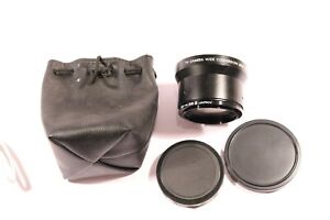 TV CAMERA WIDE CONVERSION LENS X0.7 & 52 - 58 mm ADAPTOR RING WITH CASE & CAP'S