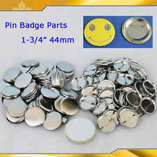 """1-3/4"""" 44mm 100sets Pin Badge Button Parts Supplies for Maker Machine HOT SALE"""