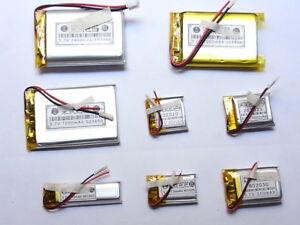 batteria 3,7V  polimeri di litio ricaricabile mp3/4 gps/auricolari/altri device
