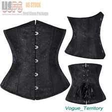 Women Spiral Steel Boned Waist Training Underbust Corset Bustier Shapewear S-6XL