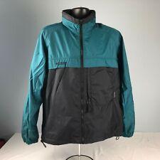 COLUMBIA green & black packable windbreaker full zip MENS M JACKET vented hooded