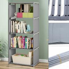 4 Tier Bookshelf Storage Clothes, Toys, Snacks Cabinet Display Rack Waterproof