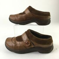 Dansko Kaya Clog Mules Comfort Shoes Womens 39 Button Leather Brown 5415457800