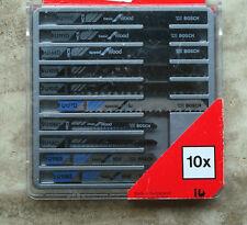 BOSCH 10 LAME SEGHETTO 10 BLACK&DECKER METALLO LEGNO ALU SWISS MADE U118A U127D