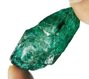 90.61 KT Sfuso Gemma Verde Naturale Smeraldo Grezzo Colombiano Certificato Ebay