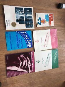 Harmonica Instruction Books. Blues Harp . Vintage. Job Lot