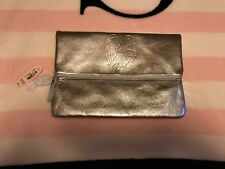 NWT Victoria's Secret Clutch Makeup Bag Accessory Silver 'Angel' Wings Cosmetics