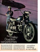 1969 HARLEY-DAVIDSON SPRINT 350 MOTORCYCLE  ~  CLASSIC ORIGINAL PRINT AD