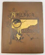 America Illustrated Antique Book J David Williams Editor 1883 Boston (O) Copy #2