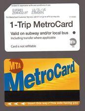 NYC MetroCard Mta Transit_1-Trip MetroCard _expired Metro Card