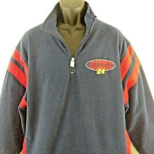 NASCAR Jeff Gordon 24 Chase Authentics Blue Fleece 1/4 Zip Size Large Pullover
