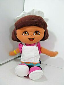 "Dora the Explorer 12"" Fabric Plush Doll Chef Cook Baker Fisher Price 2005 Mattel"