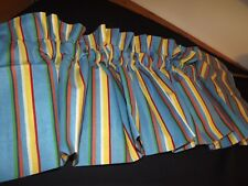 "NEW BLUE YELLOW STRIPED BLOUSON VALANCE BY CONTESSA 72WX15"" NIP 2 AVAILABLE"