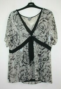 Women's Size 14 Ann Taylor, Brown Floral Pattern Short Sleeve Silk Top With Cami