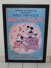 MICKEY MOUSE 1932 THE WHOOPEE PARTY FRAMED LIMITED EDITION LITHOGRAPH DISNEY