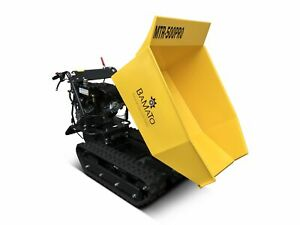 BAMATO Mini Raupendumper MTR-500PRO mit Kippdydraulik Dumper Motorschubkarre