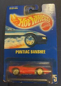 Hot Wheels All Blue Card Collector #75 Pontiac Banshee Ultra Hots Wheels NOS