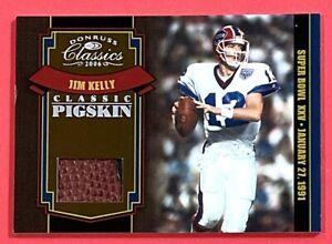2006 DONRUSS CLASSIC PIGSKIN GAME USED BALL RARE /250 JIM KELLY