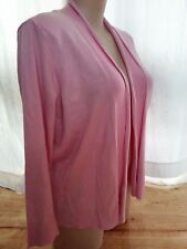 Cameo Pink viscose spring summer long sleeve cardigan jumper jacket XXL 20 22