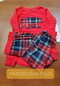 Eddie Bauer Kid's Family Xmas RED PJ Sleep Set PICK SIZE 2T 3 T / 4 T / 5  NEW
