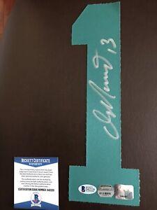 Miami Dolphins Dan Marino autographed #1 jersey number Beckett COA