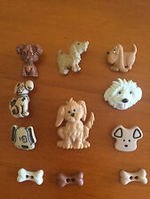 Dog Buttons Large Small Dogs Brown Grey Novelty Buttons By Dress It Up 369