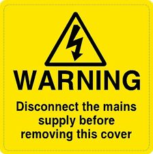 10 X suministro eléctrico de advertencia de seguridad de voltaje labels/signs
