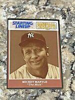 1989 Kenner Starting Lineup Mickey Mantle New York Yankees MLB Baseball Card