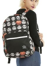 Disney The Nightmare Before Christmas Jack Faces School Book Bag Backpack NWT!