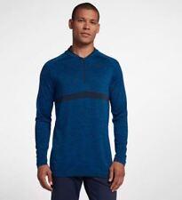 Nike Golf Men's 1/2 Zip Shirt Size Large Blue Dri-fit Pullover Top 892221