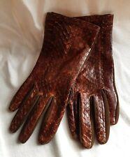Gorgeous Ladies Snakeskin Vintage Gloves.
