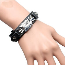 Classic Anime Attack on Titan Survey Corps Bracelet Leather Wristband Cosplay