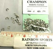 100 Worm Harness Spinner & Jewelry Clevise #2 Nickel Folded Clevises Best Seller
