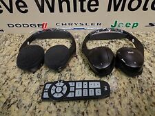 02-12 Chrysler Dodge Ram Jeep Rear Seat Dvd Video Headphones & Remote Mopar Oem