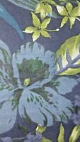 """BLUE AND GREEN FLORAL PRINT, 1 YARD 60"""" WIDE; 100% COTTON, GREAT FOR QUILTING"""