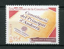 French Andorra 2018 MNH Constitution 25 Years 1v Set Politics Stamps