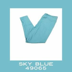 Tween Lularoe Leggings Solid Sky Blue NWT 49065