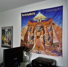 IRON MAIDEN Powerslave HUGE 4X4 BANNER fabric poster tapestry flag album cd
