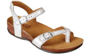 SAS Pampa Sandal Pearl White 6.5 Wide, Women's Shoes