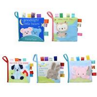 Animal Baby Soft Cloth Book Infant Early Educational Fabric Book Rattle Toy P4PM