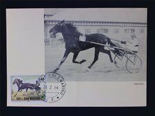 SAN MARINO MK 1966 REITSPORT TRABRENNEN PFERD HORSE MAXIMUMKARTE MC CM c6954