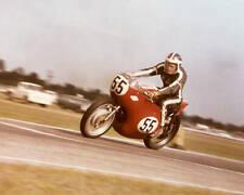 OLD LARGE PHOTO, Roger Reiman riding his Harley Davidson motorcycle Daytona 1961