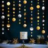3x Glitter Star Garland Banner Wedding Baby Shower Birthday Party Hanging Decor