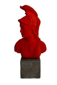 Goddess Athena Red Bust - Symbol of Wisdom Strength Strategy - Athens