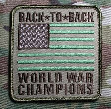 BACK TO BACK WORLD WAR CHAMPIONS USA XL FLAG US ARMY MULTICAM BADGE MORALE PATCH