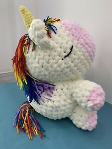 New Handmade Soft Fluffy Unicorn Collectible Photo session Art Toy Party Props